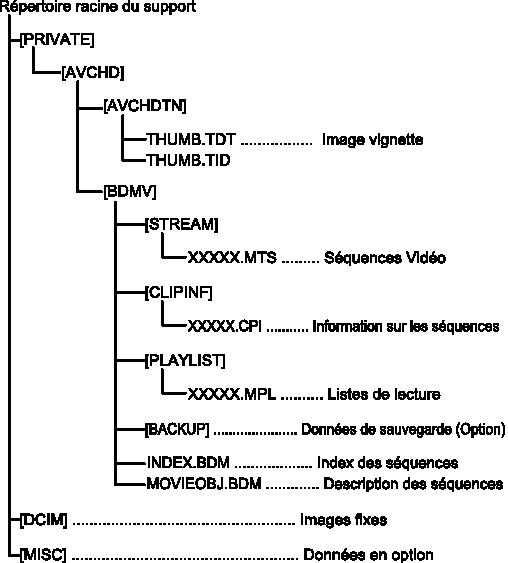 AVCHD structure de fichier