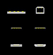 Types de rpises USB
