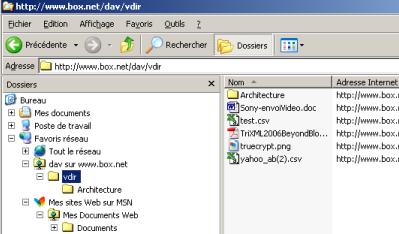 WebDAV box.net