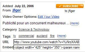 exemple YouTube