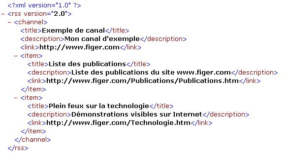 exemple de RSS