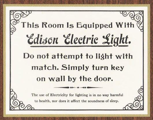 edison electric light